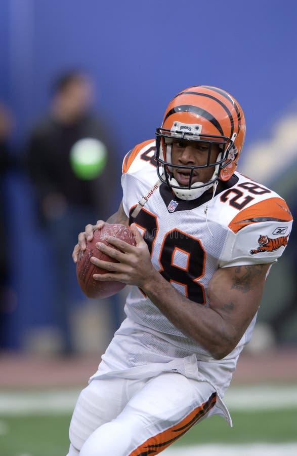 RB Corey Dillon de los Cincinnati Bengals imagen de archivo libre de regalías