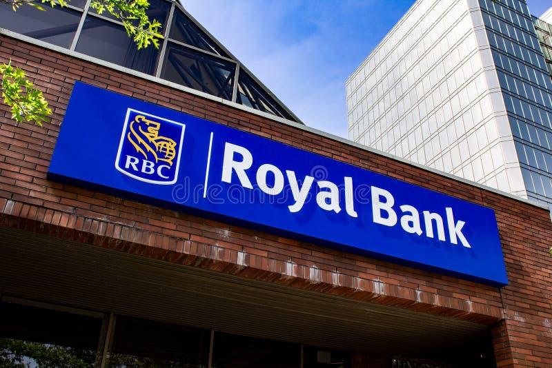 RBC Royal Bank de signe du Canada images stock