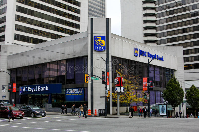 RBC Royal Bank, Vancouver, BC. royalty free stock images
