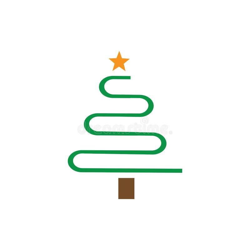 ?rbol de navidad ilustración del vector