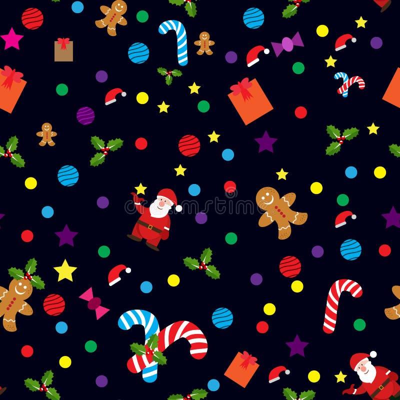 ?rbol de Navidad de los iconos y de las etiquetas de la Navidad, estrella, copo de nieve, campanas, bola, mu?eco de nieve, acebo, ilustración del vector