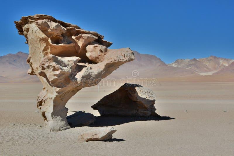Rbol de Piedra del  de à Desierto de Siloli Departamento de Potosà bolivia fotografía de archivo libre de regalías