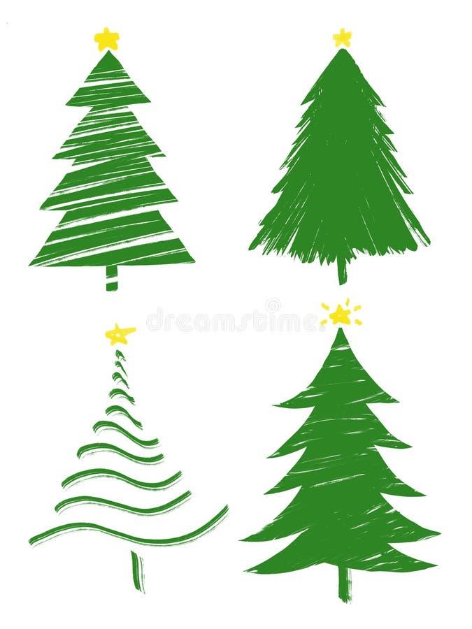 ?rboles de navidad del ejemplo fotografía de archivo