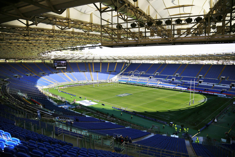 RBS 6 NATIONS 2014 - ROME, OLYMPIC STADIUM stock image