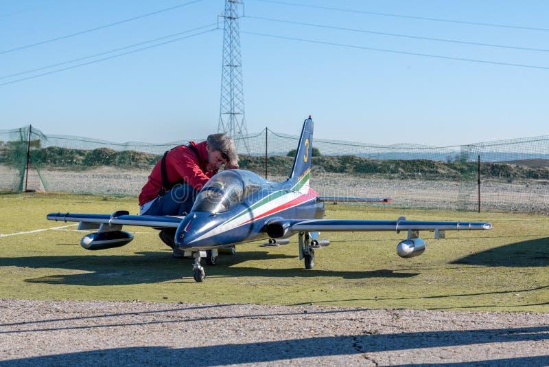 RC πρότυπο αεροπλάνο Aermacchi ΜΒ 339 στοκ εικόνα με δικαίωμα ελεύθερης χρήσης