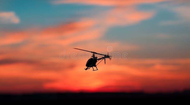 RC直升机的照片 免版税图库摄影