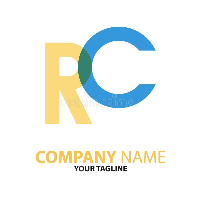 Download RC Aanvankelijk Het Embleemconcept Van Cr Vector Illustratie - Illustratie bestaande uit concept, element: 114227253