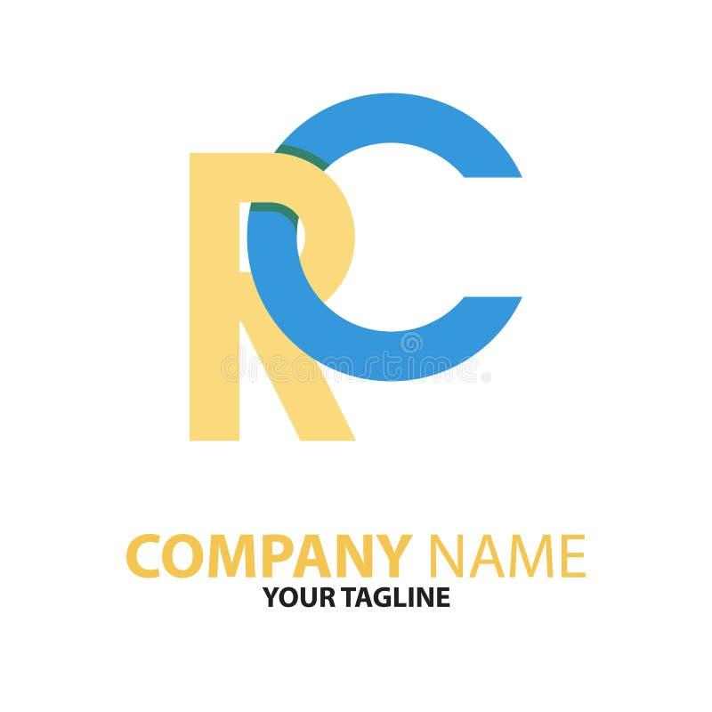 Download RC Aanvankelijk Het Embleemconcept Van Cr Vector Illustratie - Illustratie bestaande uit concept, elegant: 114227307