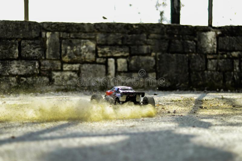 RC autoafwijking stock foto's