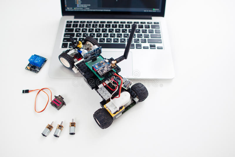 Rc car made on base of microcontroller royalty free stock photos