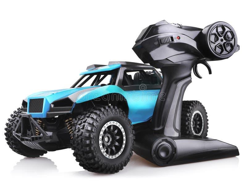 RC het modelstuk speelgoed van de verzamelingsauto, offroad met fouten met afstandsbediening royalty-vrije stock afbeeldingen