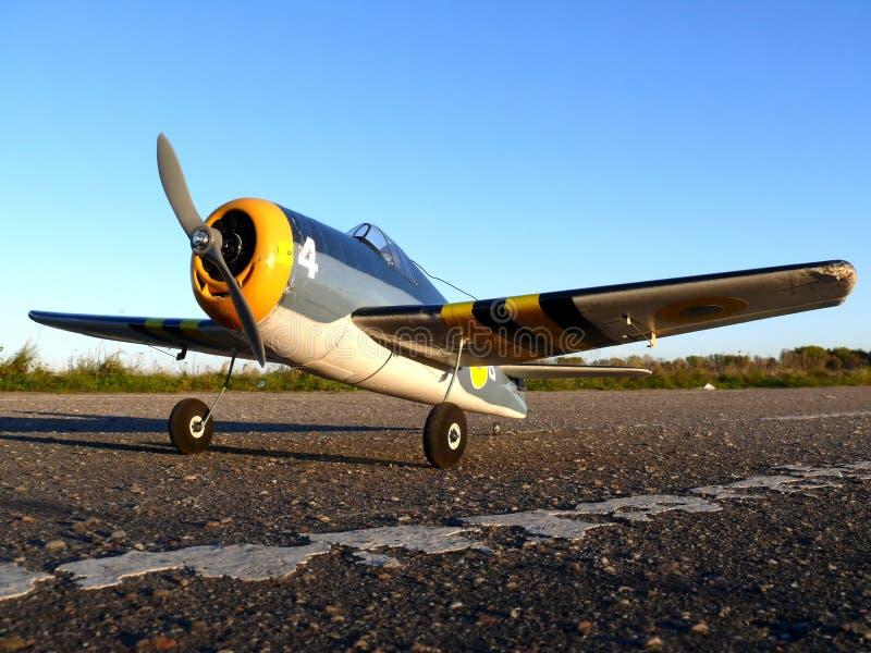 RC model Grumman Hellcat. Hobby stock photo