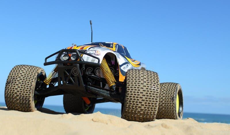 RC Nitro monster truck action stock photos