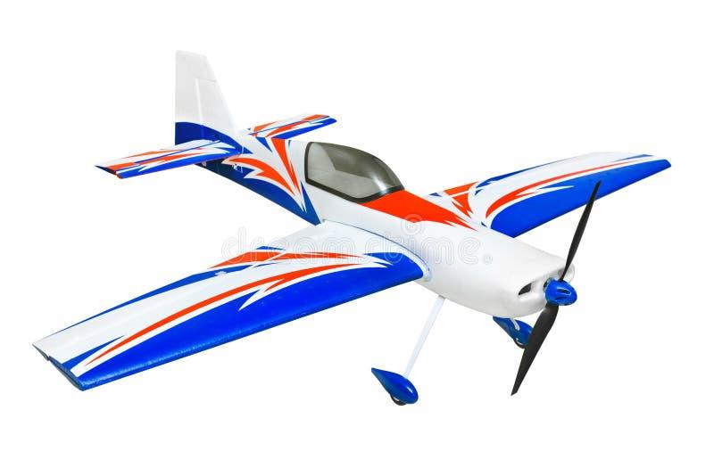 RC plane. Isolated on white background royalty free stock photos
