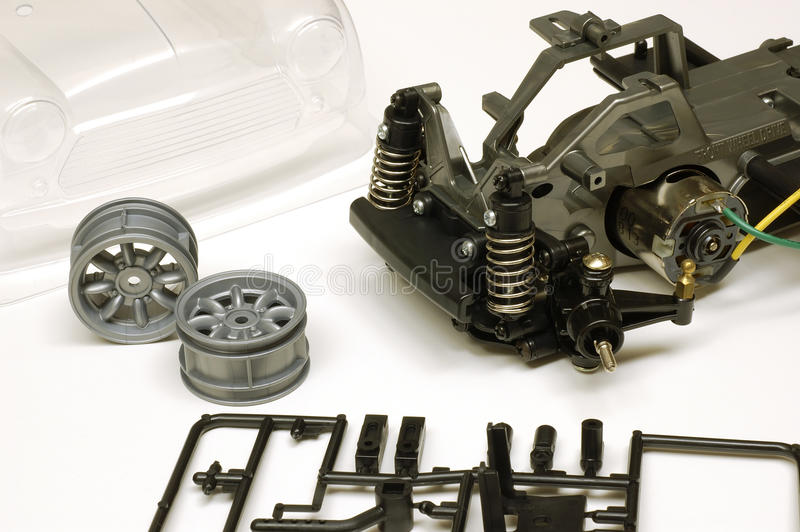 RC Toy Car Parts Assembly lizenzfreie stockfotografie
