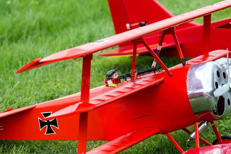 RC triplane stock photos