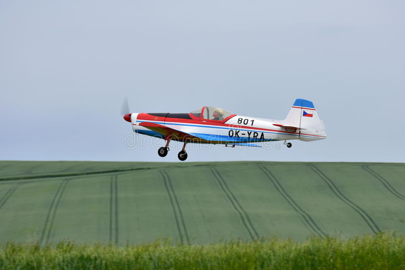 RC zabawki samolotu model Zlin zdjęcie stock
