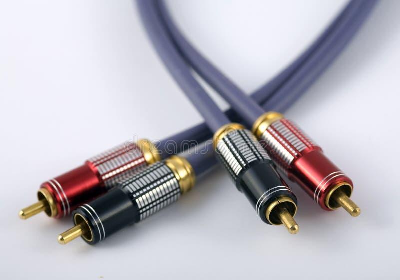 RCA кабеля стоковое фото rf