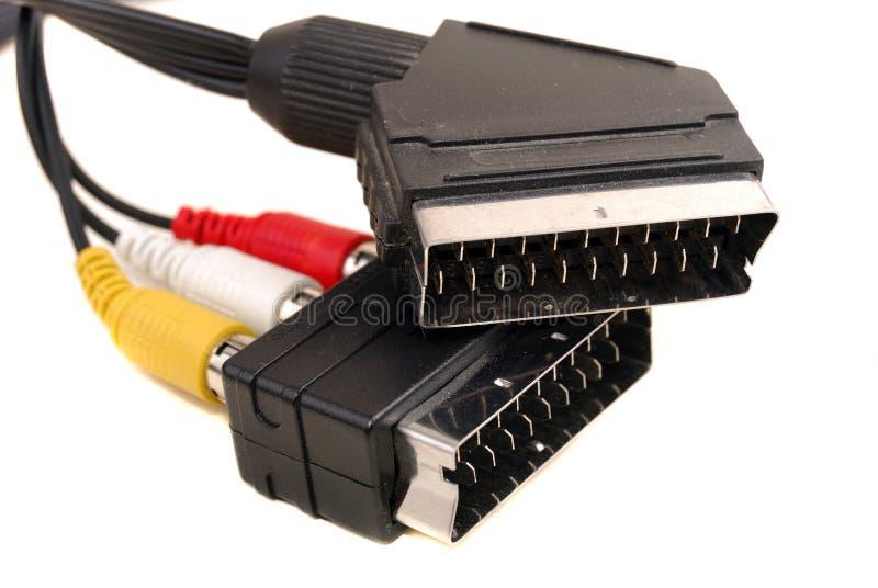 Rca de vidéo un câble photographie stock libre de droits