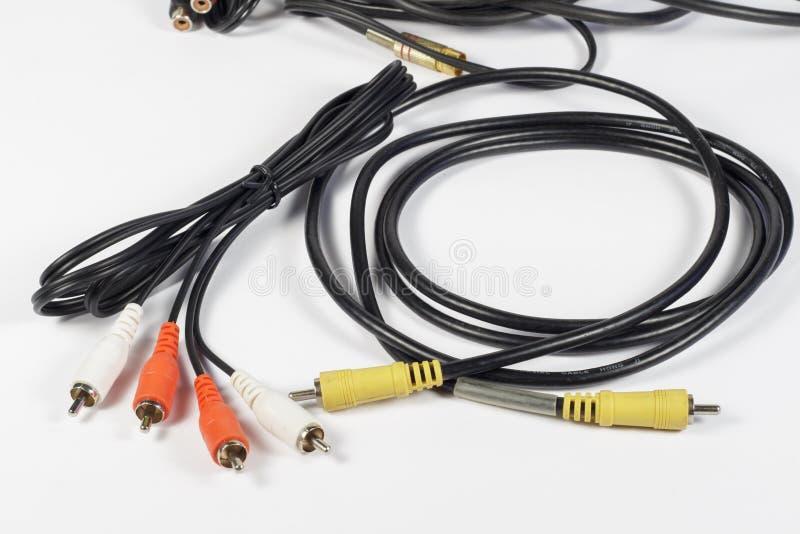 RCA kontaktdon för ljudsignal och video royaltyfri fotografi