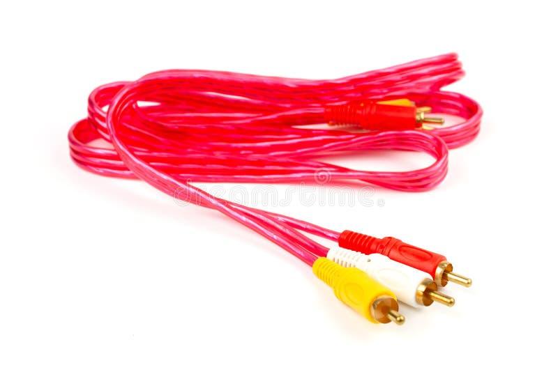 RCA wkładu audio i wideo sygnały podłączeniowi zdjęcie stock