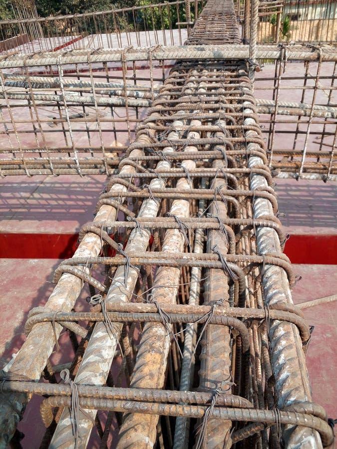 Rcc beam steel slab details. Reinforcement details of slab royalty free stock photo