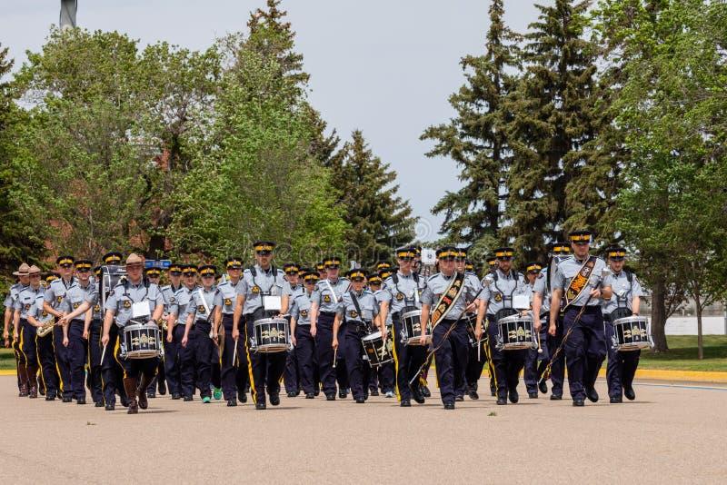 RCMP游行在雷日纳加拿大 图库摄影