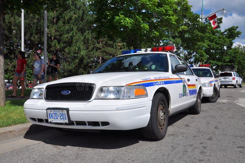 RCMP福特冠维多利亚警车在渥太华,加拿大 库存照片
