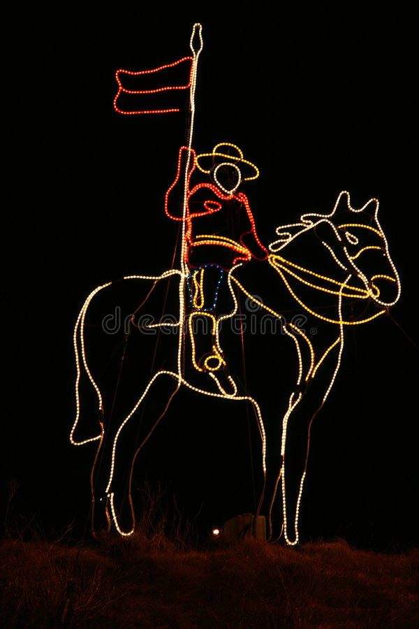 52bfde832f604 RCMP. Officer in lights on a horse royalty free stock images