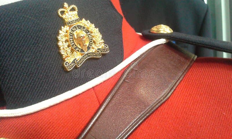 RCMP-Insignes stock afbeelding