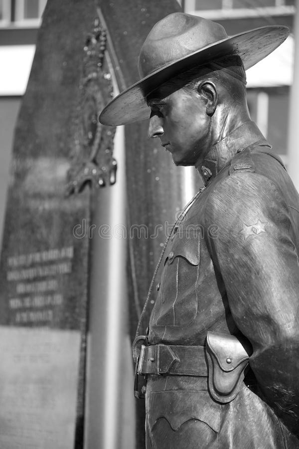 RCMP Memorial. VANCOUVER, CANADA - JANUARY 26, 2015: RCMP Memorial for fallen officers in British Columbia Canada stock photos