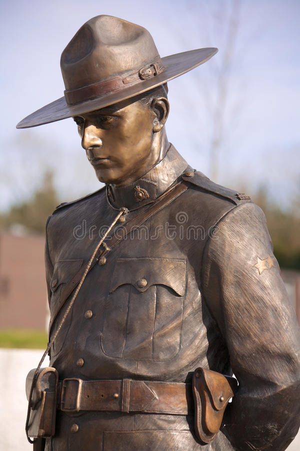 RCMP Memorial. VANCOUVER, CANADA - JANUARY 26, 2015: RCMP Memorial for fallen officers in British Columbia Canada royalty free stock photography