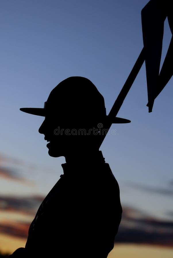 RCMP Rider S Silhouette Royalty Free Stock Photos