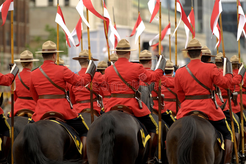 RCMP Riders stock photos