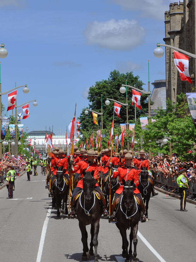 Download RCMP Riding In Canada Day, Ottawa Editorial Stock Image - Image: 20152289