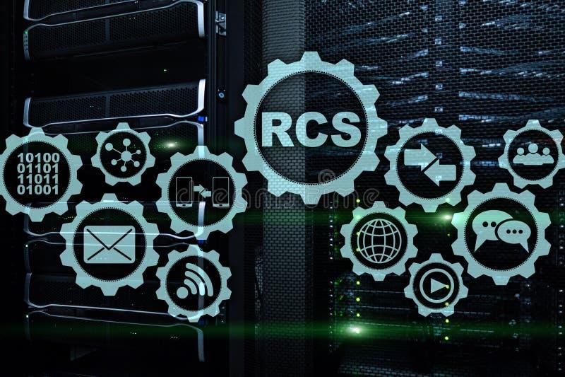 RCS Rich Communication Services ommunication Protokoll Getrennt auf Weiß stockbilder