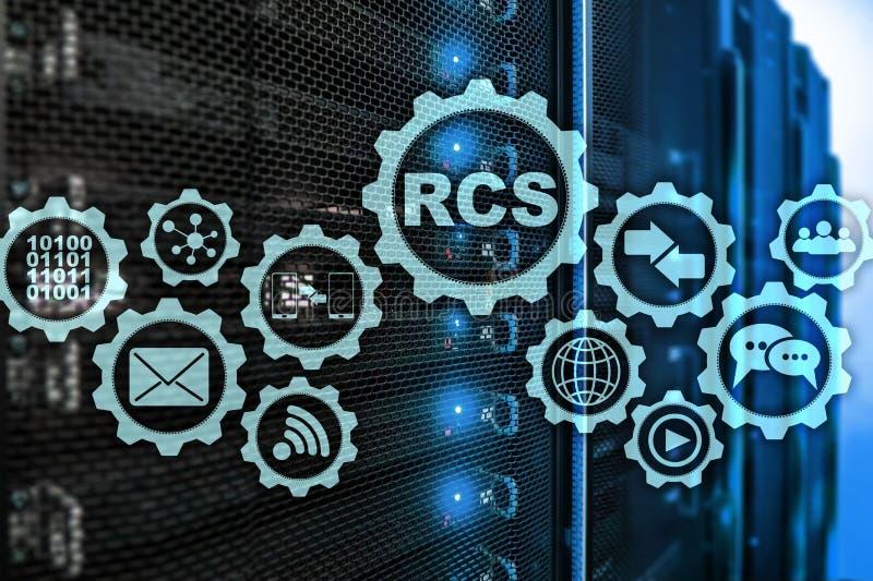 RCS Rich Communication Services ommunication Protokoll Getrennt auf Wei? vektor abbildung