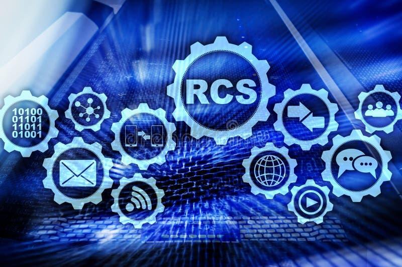 RCS Rich Communication Services protocolo del ommunication Concepto de la tecnolog?a libre illustration