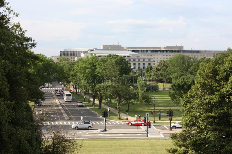 23rd Street. And American Pharmacists Association. View from Lincoln Memorial royalty free stock photos