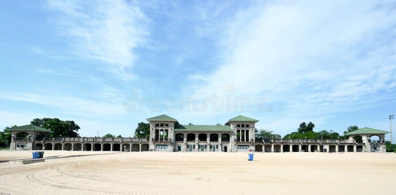 63rd Street Beach Bathing Pavilion royalty free stock photography
