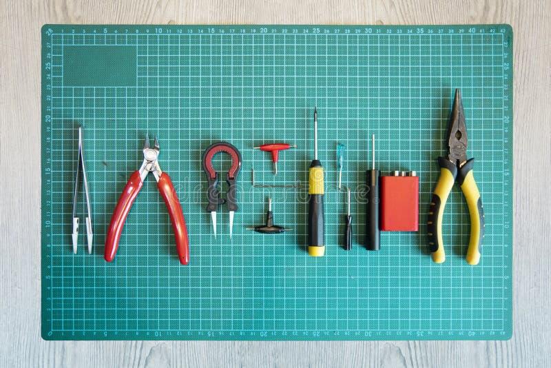 Rda ou outils de construction de bobine pour vaping photo libre de droits