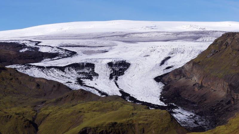 Rdalsjökull ½ Mà ледник на юге исландских гористых местностей стоковые фотографии rf