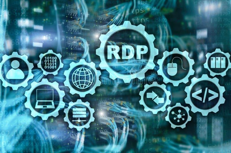 RDP远端桌面协定 终端服务 r 库存例证