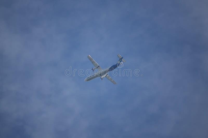 RDPL-34225 ATR72-600 Lao linia lotnicza zdjęcia stock