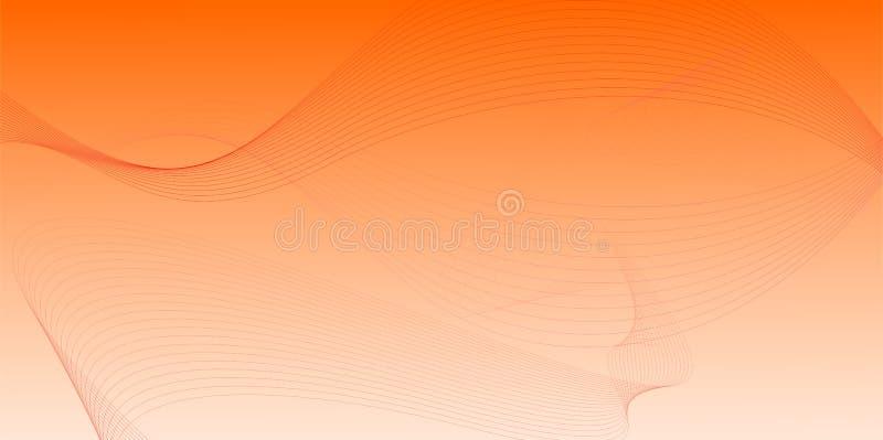Rdza, pomarańcze i biel, mieszaliśmy siatki gradientowego wektorowego abstrakcjonistycznego tło royalty ilustracja