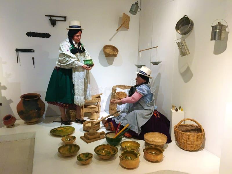 Rdzenni Narody Eksponują przy Pumapungo muzeum w Cuenca, Ekwador zdjęcie royalty free