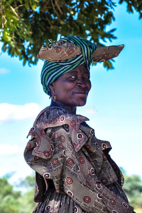 Rdzenni Narody - Herero kobiety ono Uśmiecha się fotografia royalty free