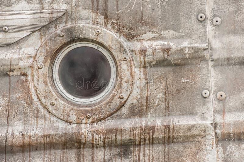 Rdzewieć metalu porthole obrazy stock