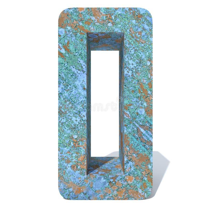 Rdzewiejąca metal chrzcielnica lub kawałek typ, żelaza lub stalowego przemysłu, zdjęcie stock