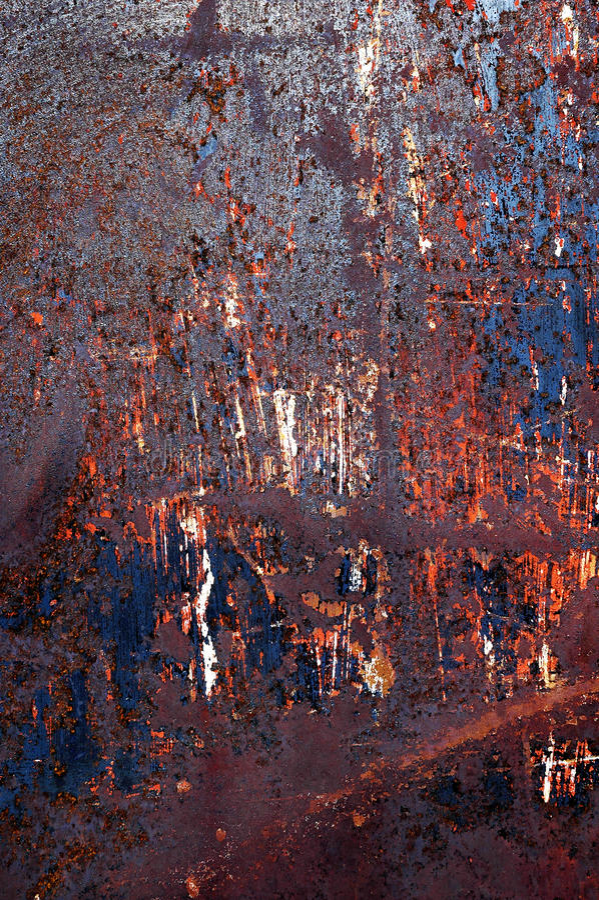 Rdzewiejąca metal tekstura dla tła obrazy stock